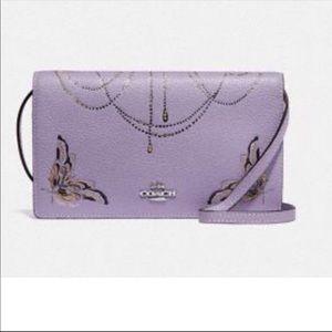 Brand new Coach lilac butterfly crossbody